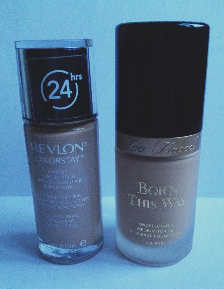 Foundation for oily skin - Revlon colour stay & Two Faced Born this way