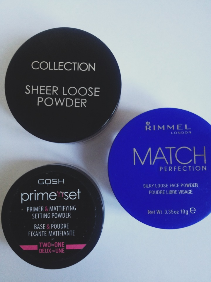 The 3 loose powders I purchased
