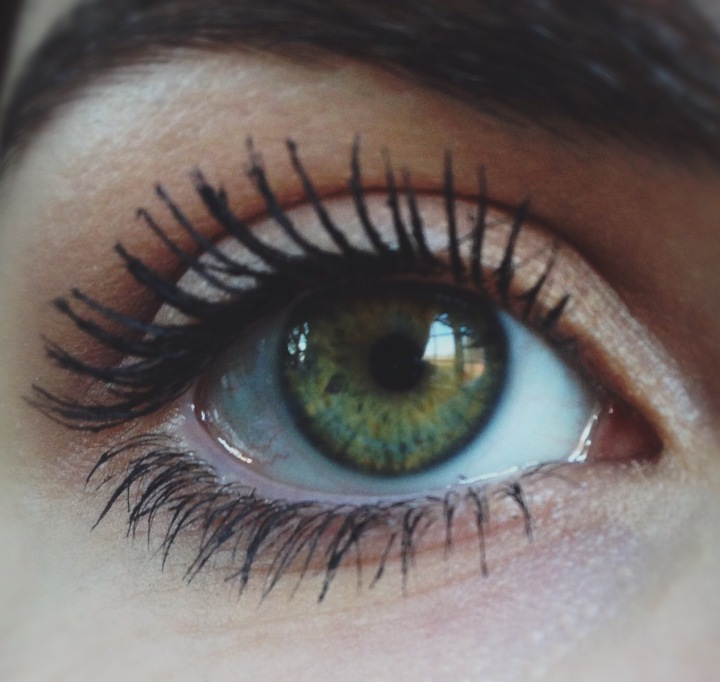 The masacara on my lashes