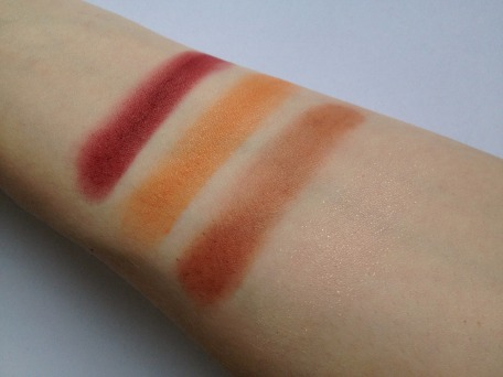 Swatches of all 4 shades